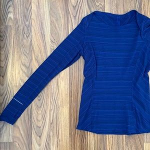 Blue lululemon long sleeve running top